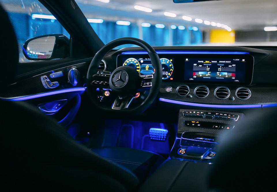Mercedes E63S AMG interior